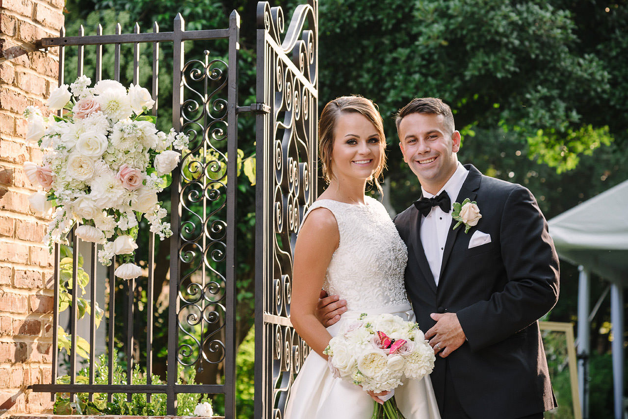 wedding at the lace house memorial garden in columbia sc