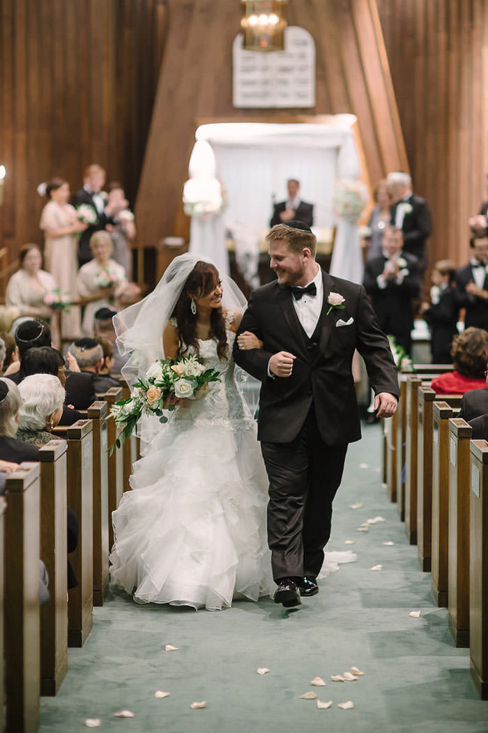 jewish wedding ceremony bride and groom recessional
