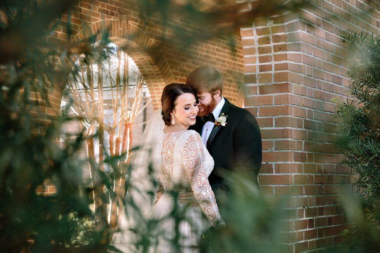 wedding bride and groom portrait
