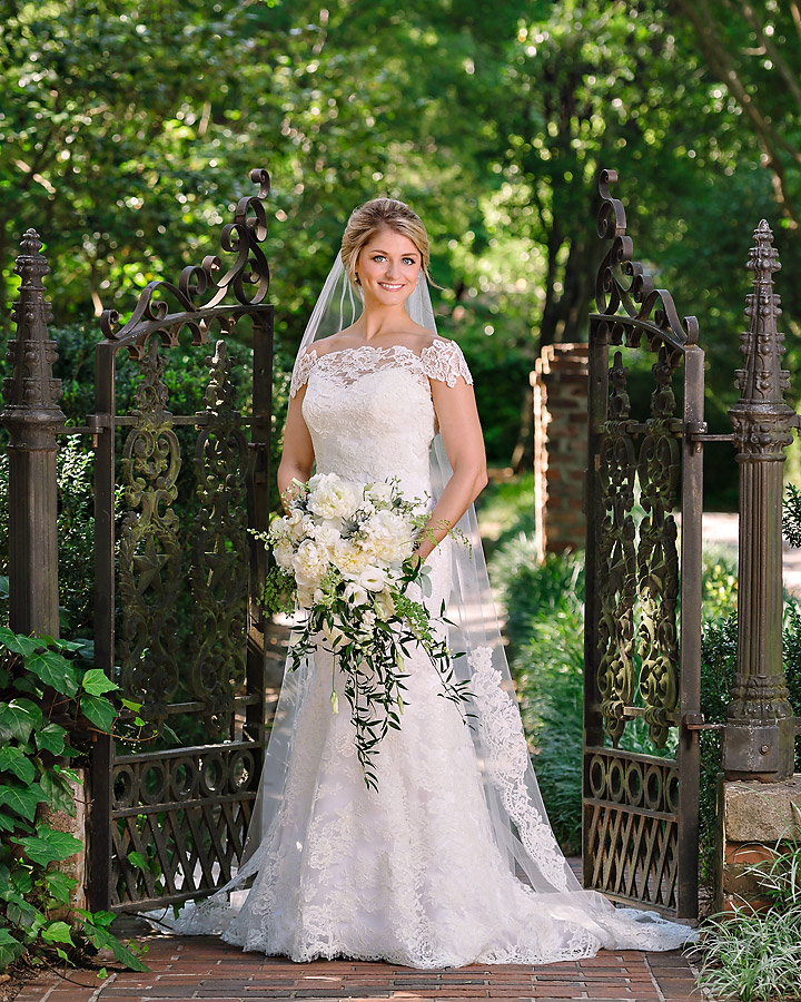 Bridal Portrait at the Lace House in Columbia
