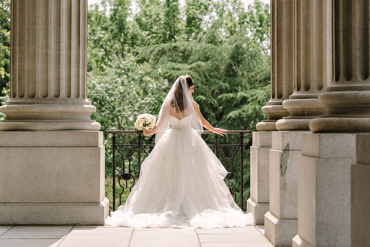 Bridal Portrait at the State House in Columbia
