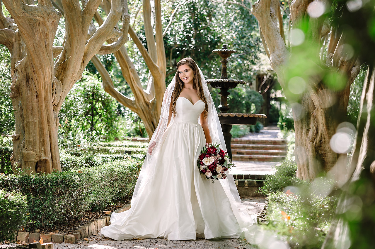 Bridal Portrait at the Lace House fountain