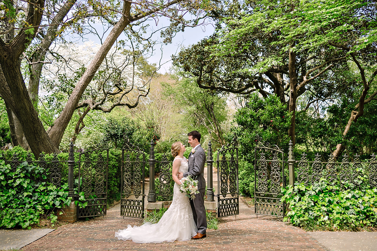 Victoria & Jack – Elegant garden wedding at the Lace House in Columbia, SC